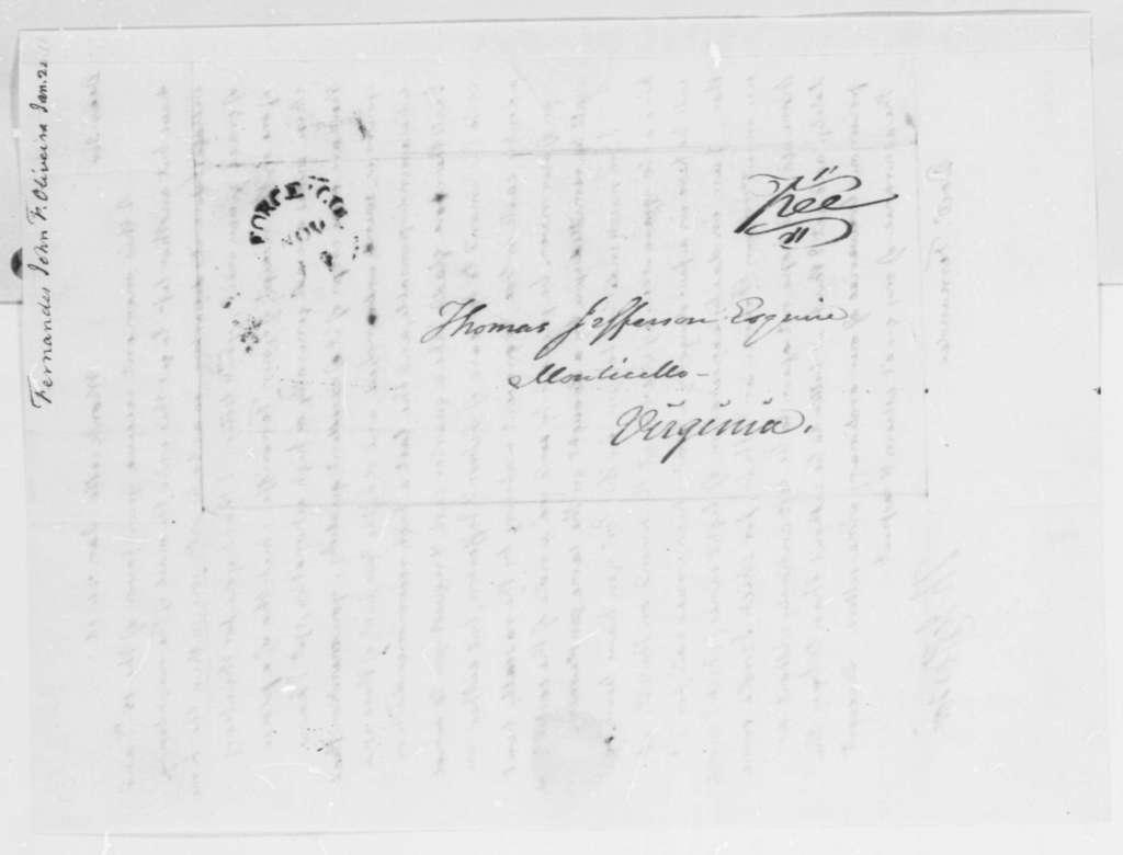 Thomas Jefferson to Fernandez Oliviera, January 24, 1816