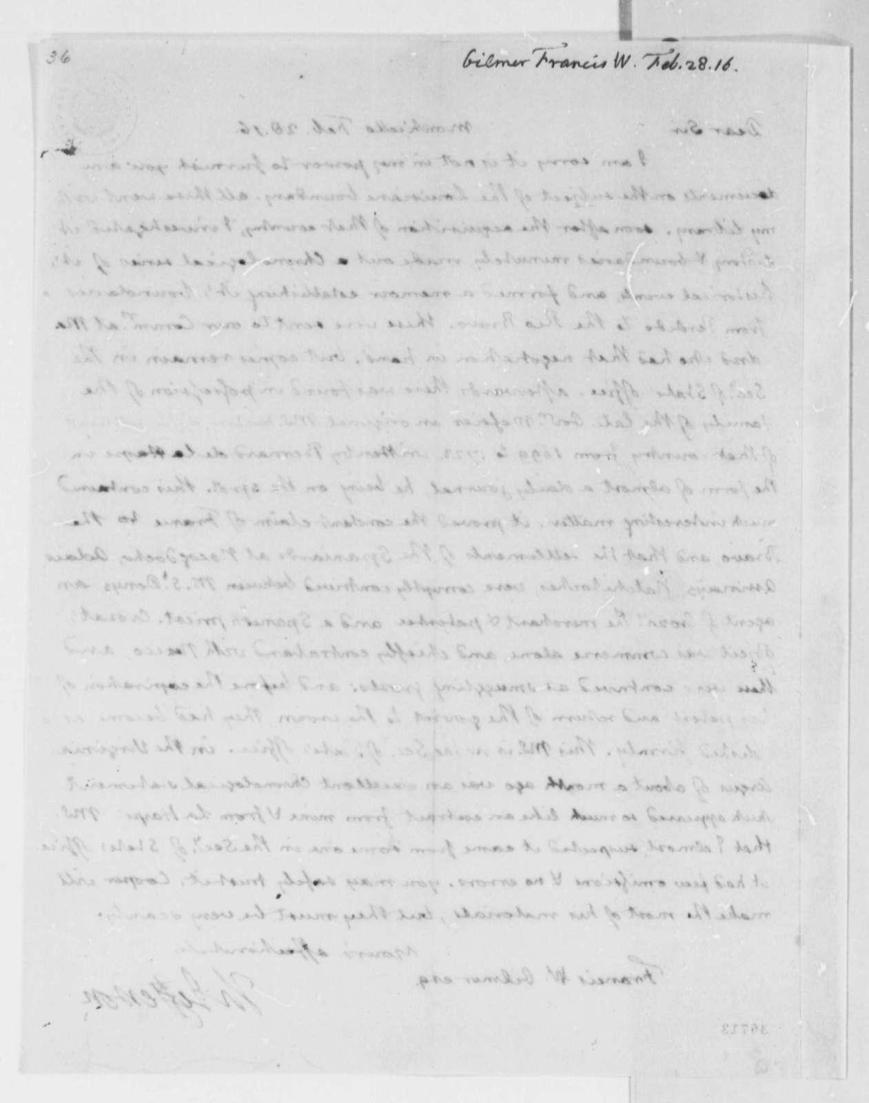 Thomas Jefferson to Francis W. Gilmer, February 28, 1816