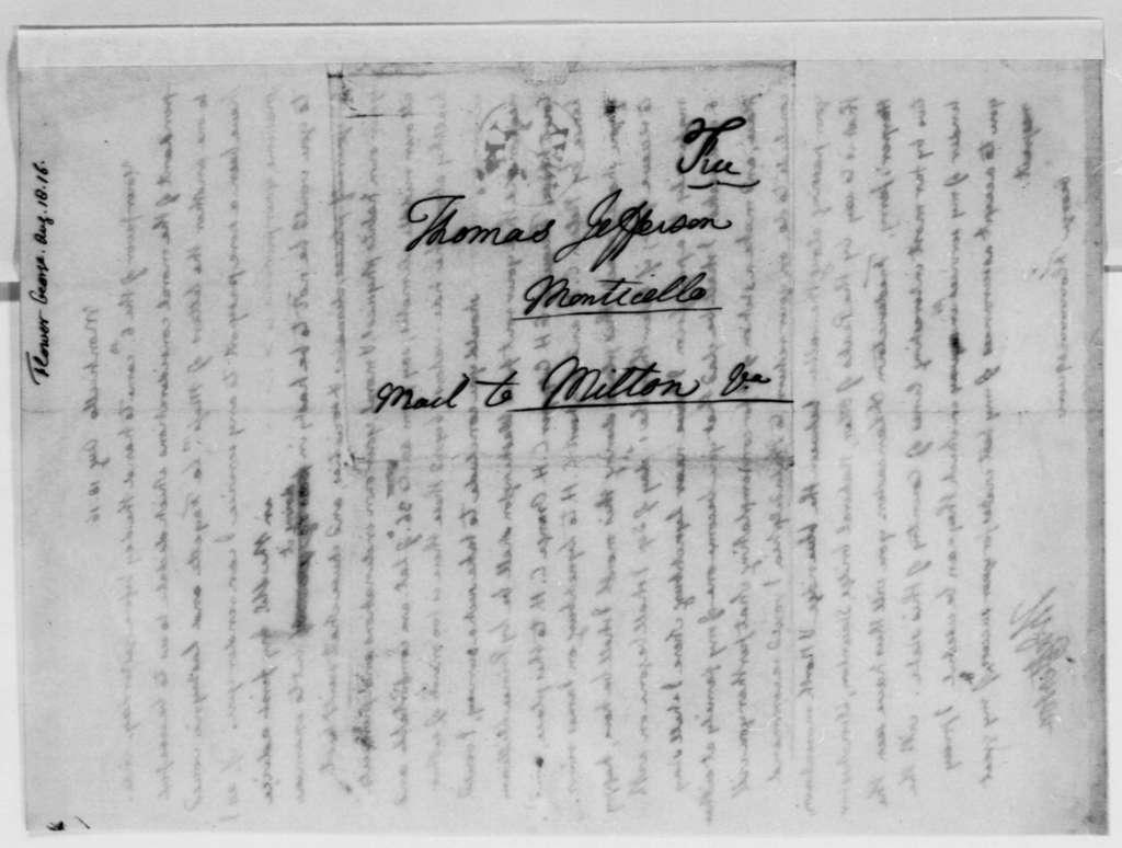 Thomas Jefferson to George Flower, August 18, 1816