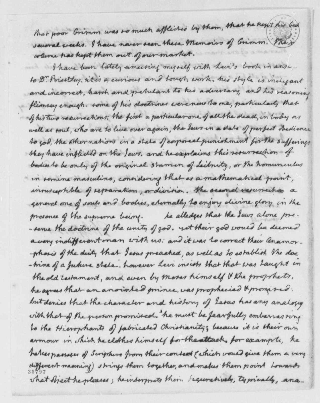 Thomas Jefferson to John Adams, April 8, 1816
