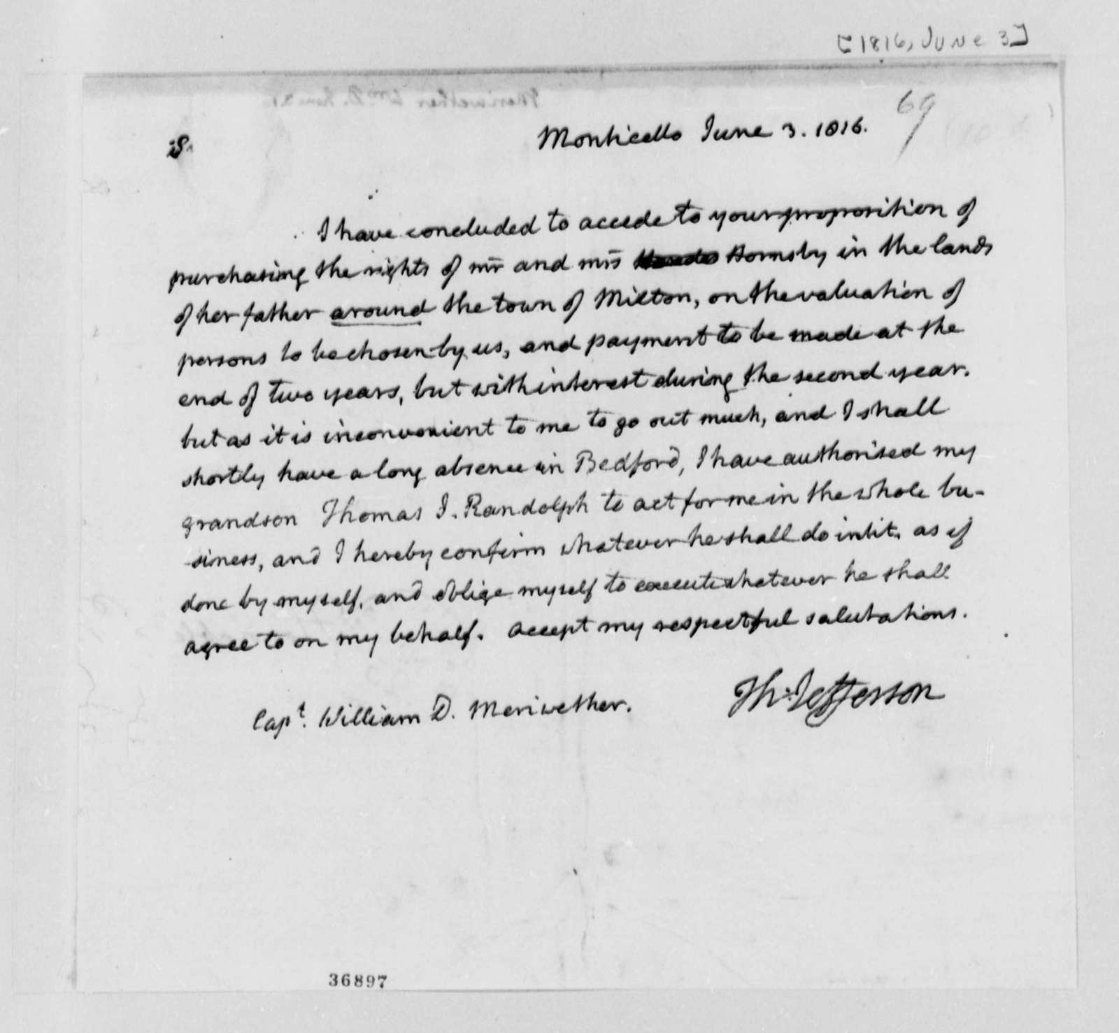Thomas Jefferson to John F. Meriwether, May 3, 1816