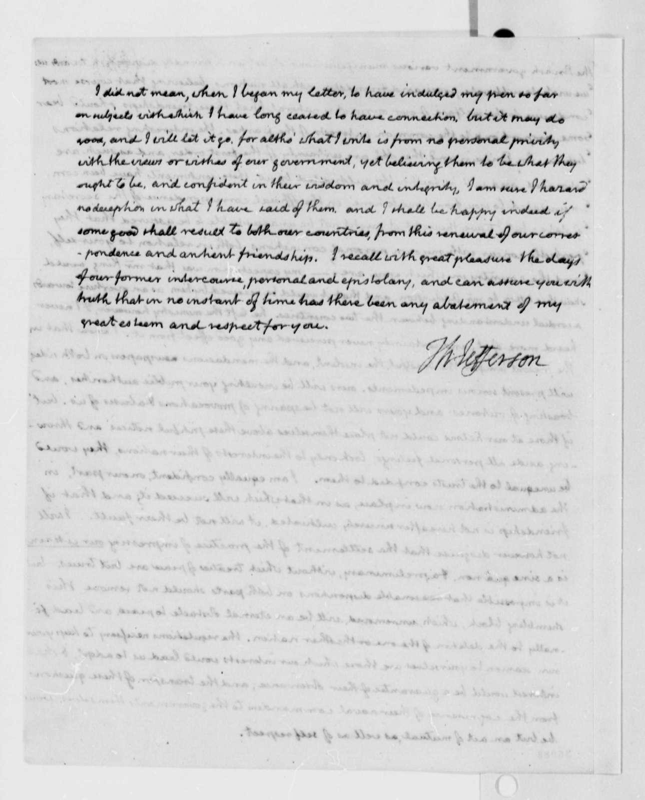 Thomas Jefferson to John Sinclair, July 31, 1816