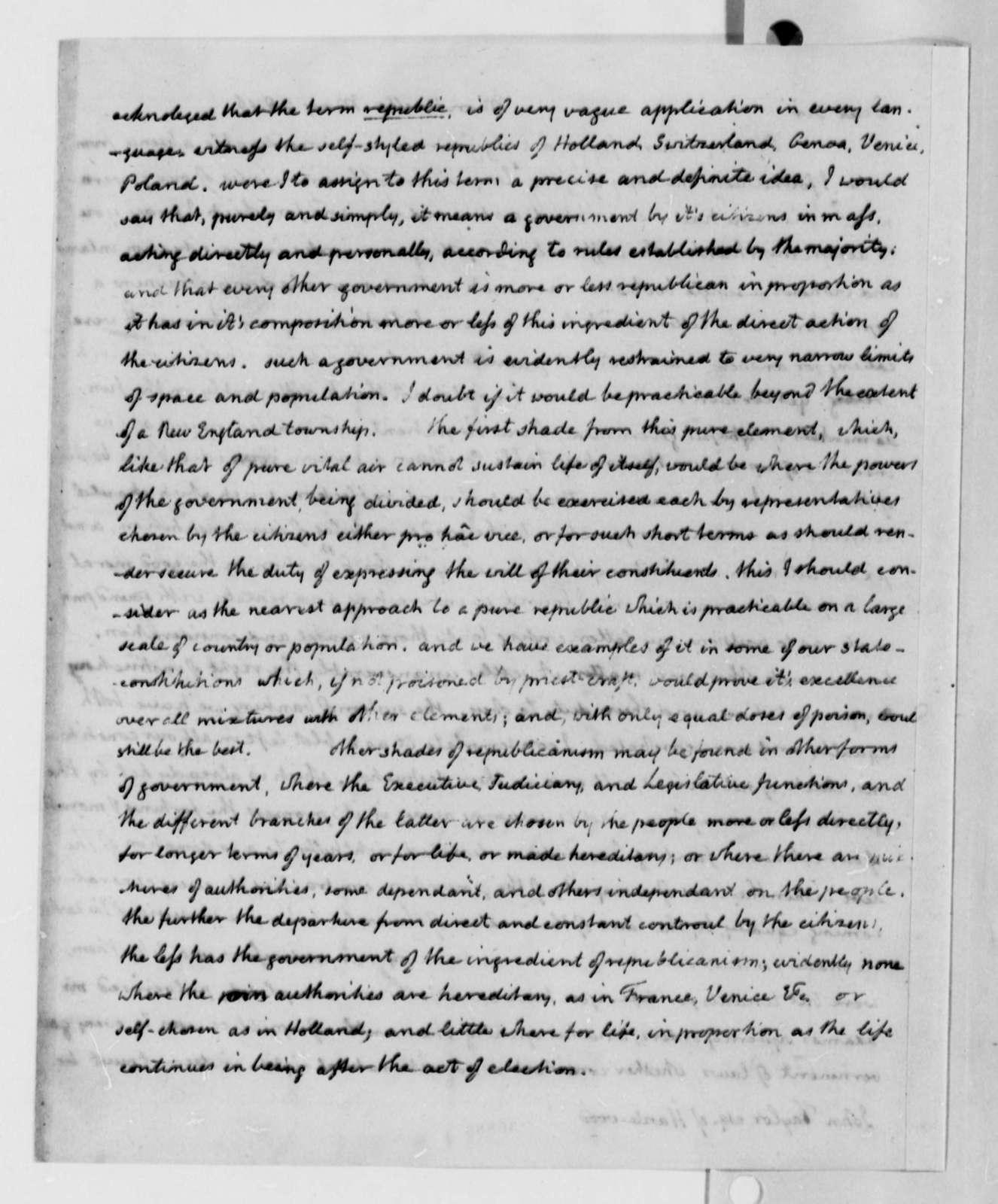 Thomas Jefferson to John Taylor, May 28, 1816