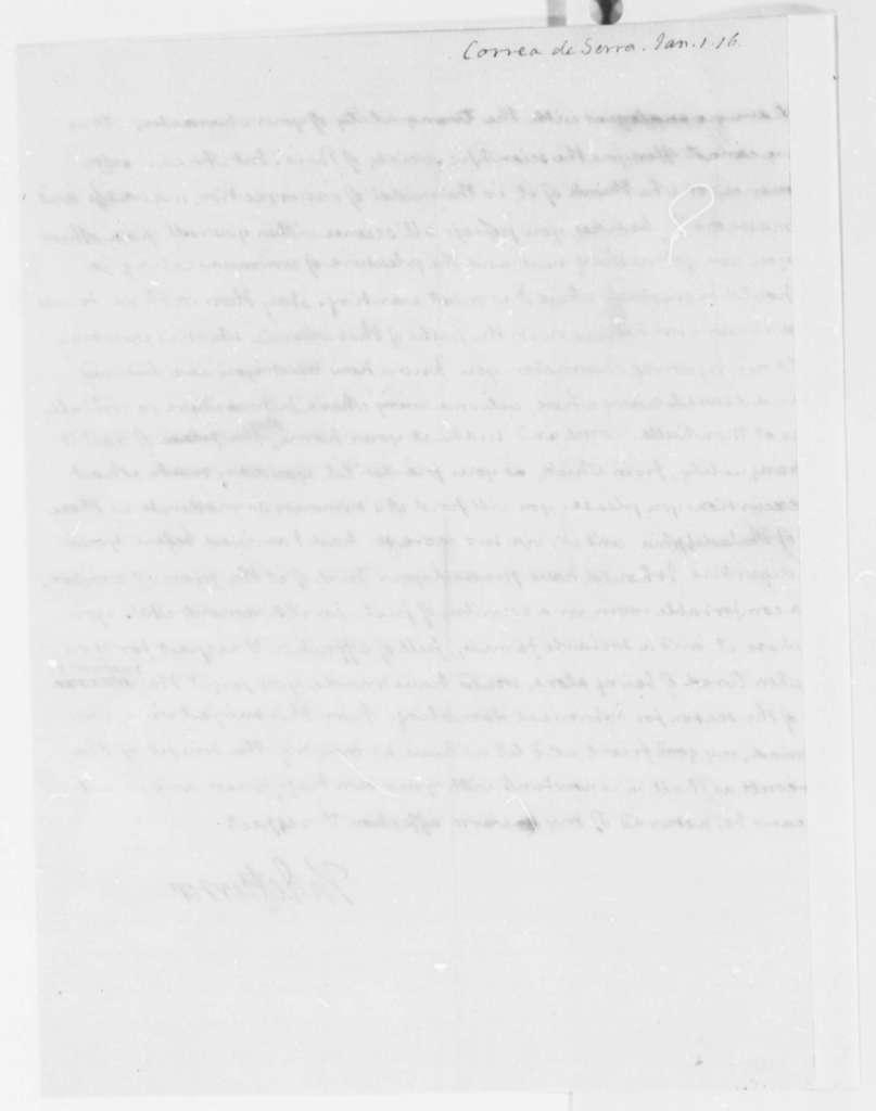 Thomas Jefferson to Jose Correa da Serra, January 1, 1816