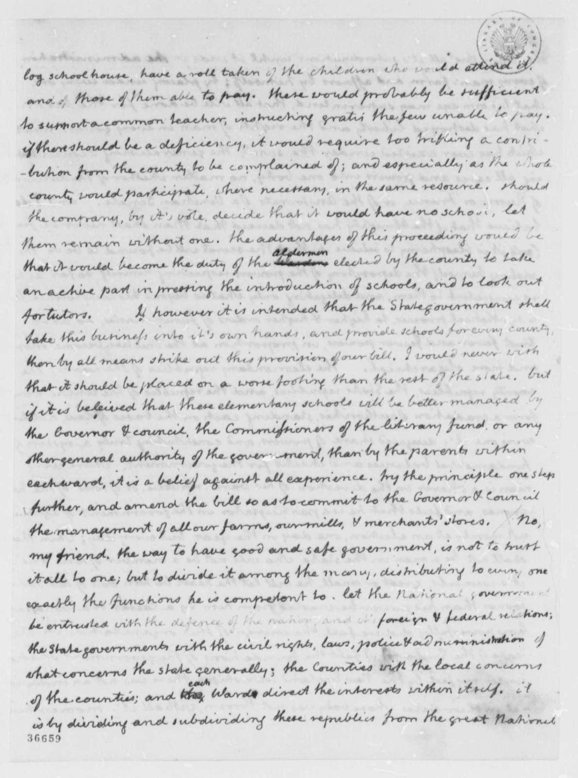 Thomas Jefferson to Joseph C. Cabell, February 2, 1816
