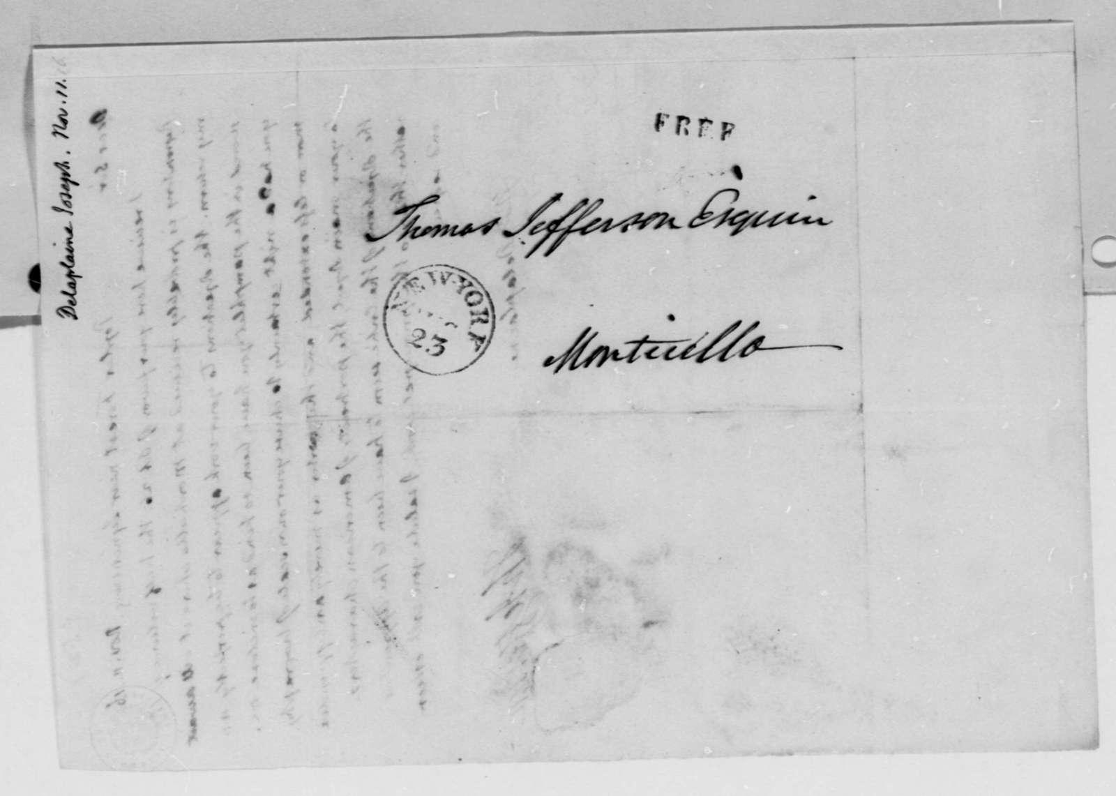 Thomas Jefferson to Joseph Delaplaine, November 11, 1816