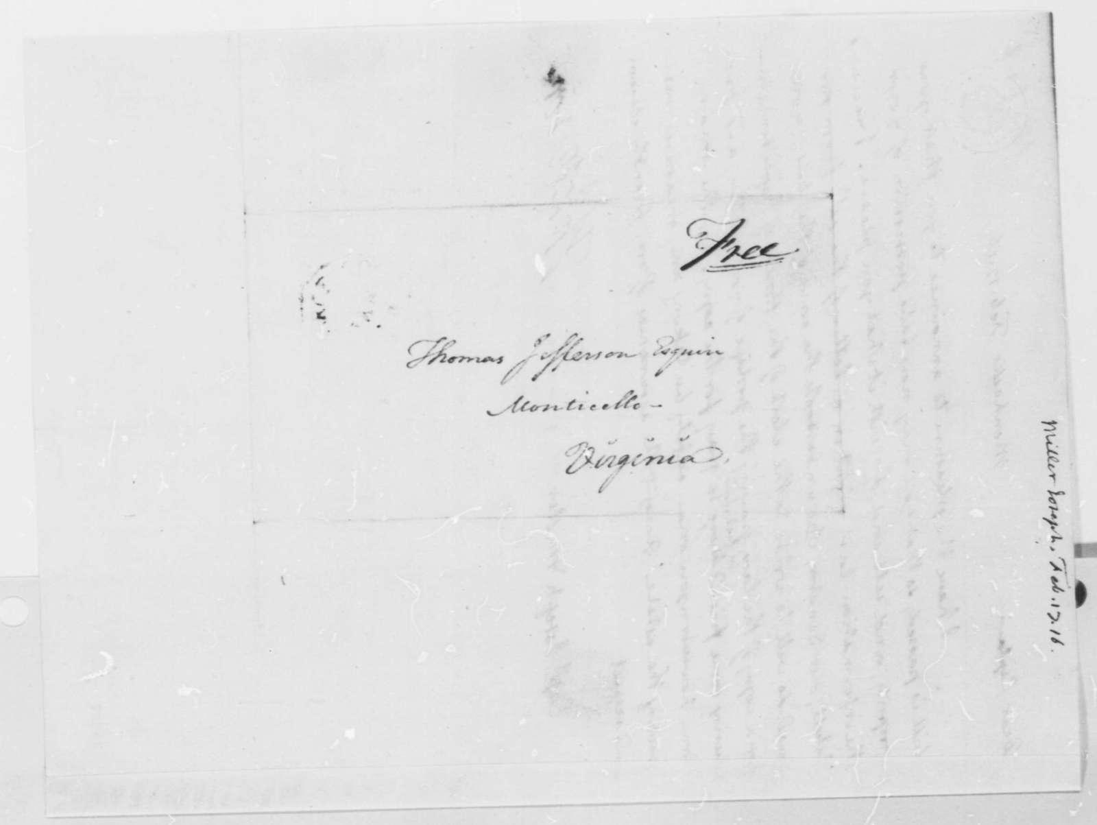 Thomas Jefferson to Joseph Miller, February 17, 1816