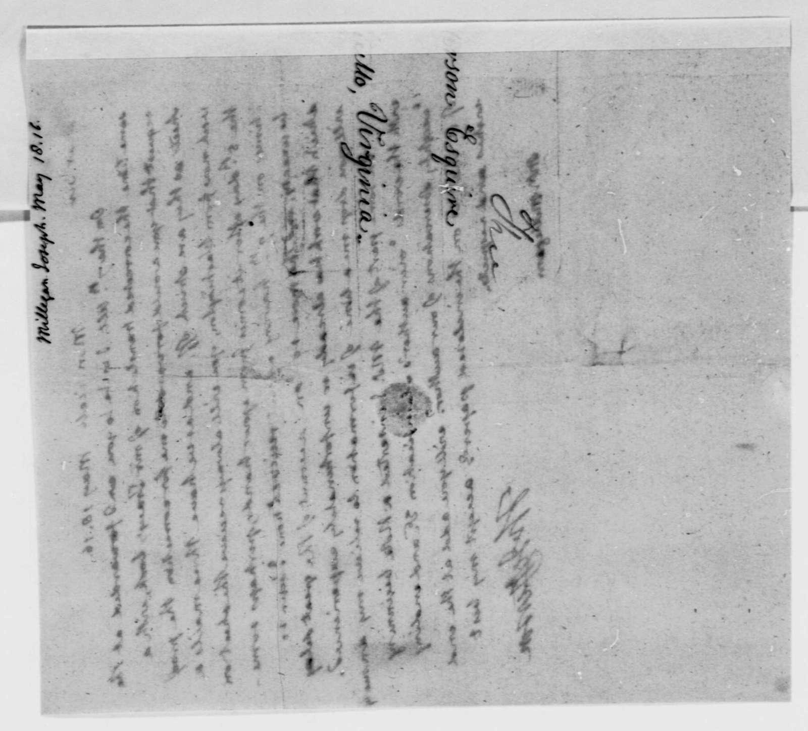 Thomas Jefferson to Joseph Milligan, May 18, 1816