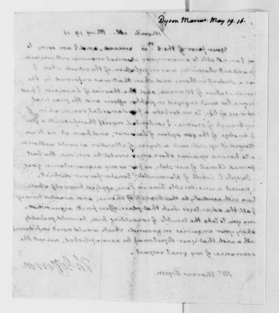 Thomas Jefferson to Marcus Dyson, May 19, 1816