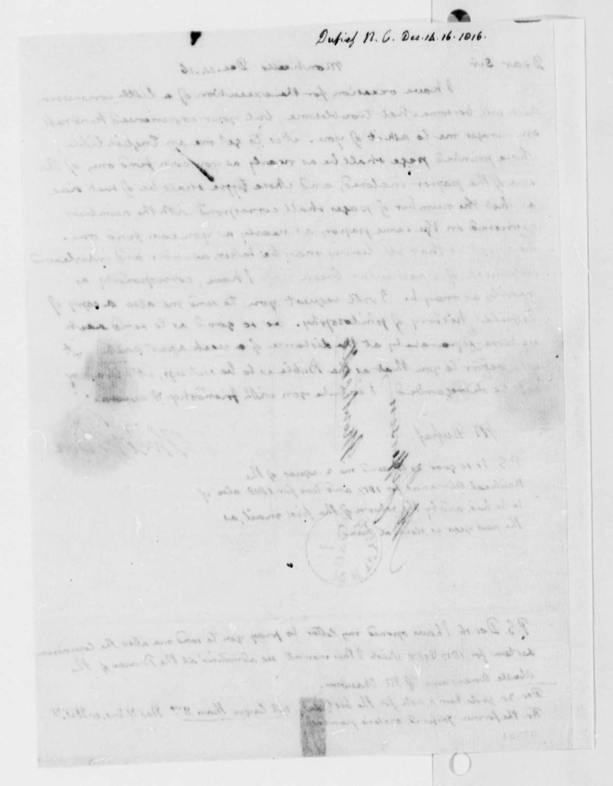 Thomas Jefferson to Nicholas Gouin Dufief, December 14, 1816