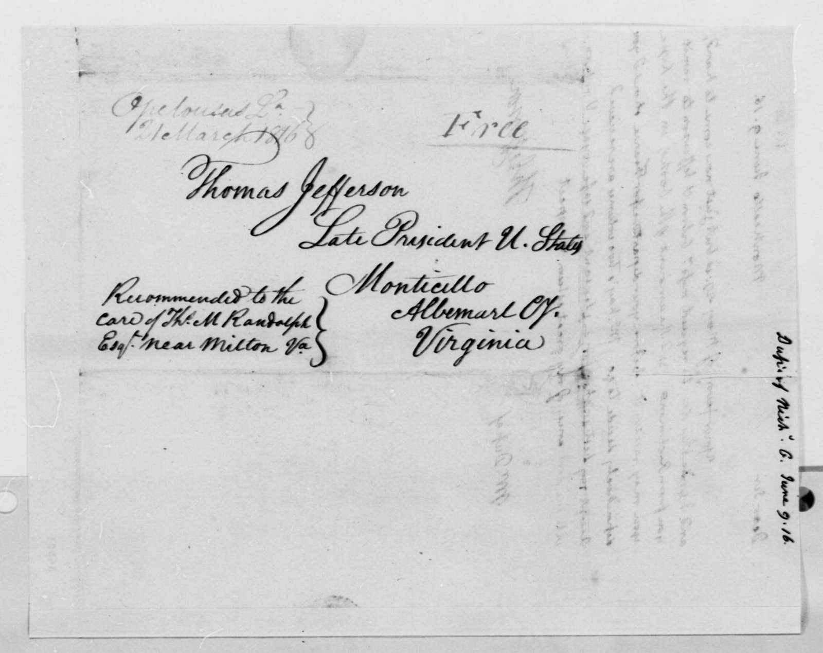 Thomas Jefferson to Nicholas Gouin Dufief, June 9, 1816