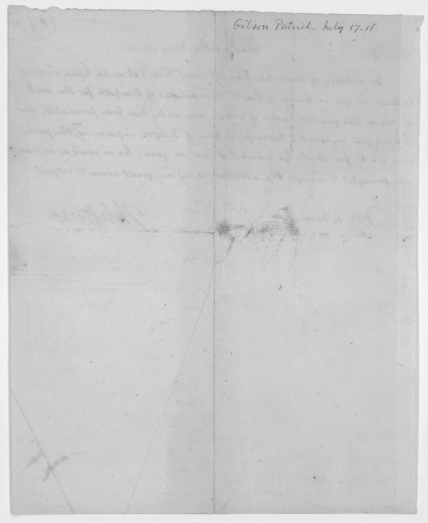 Thomas Jefferson to Patrick Gibson, July 17, 1816