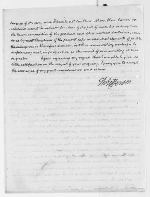 Thomas Jefferson to Peter Wilson, January 20, 1816