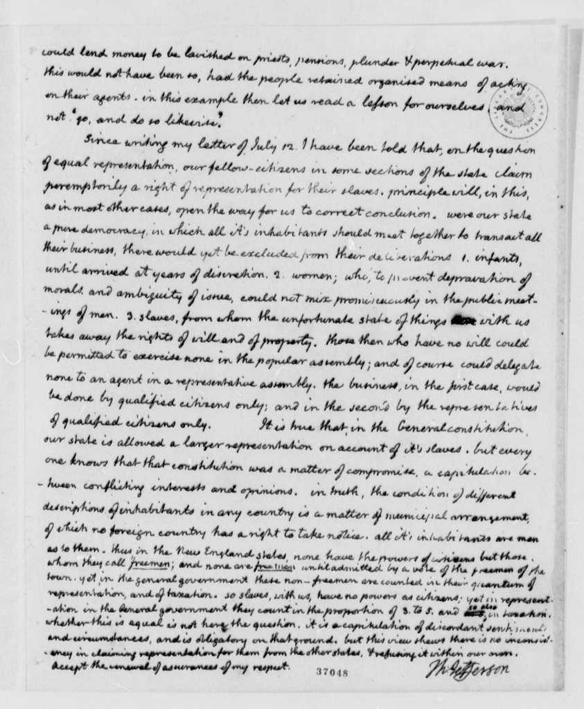 Thomas Jefferson to Samuel Kercheval, September 5, 1816