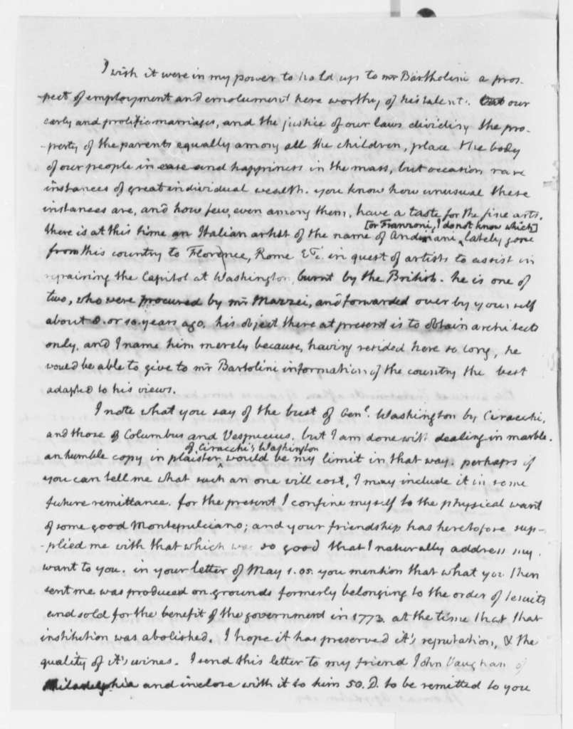 Thomas Jefferson to Thomas Appleton, January 14, 1816