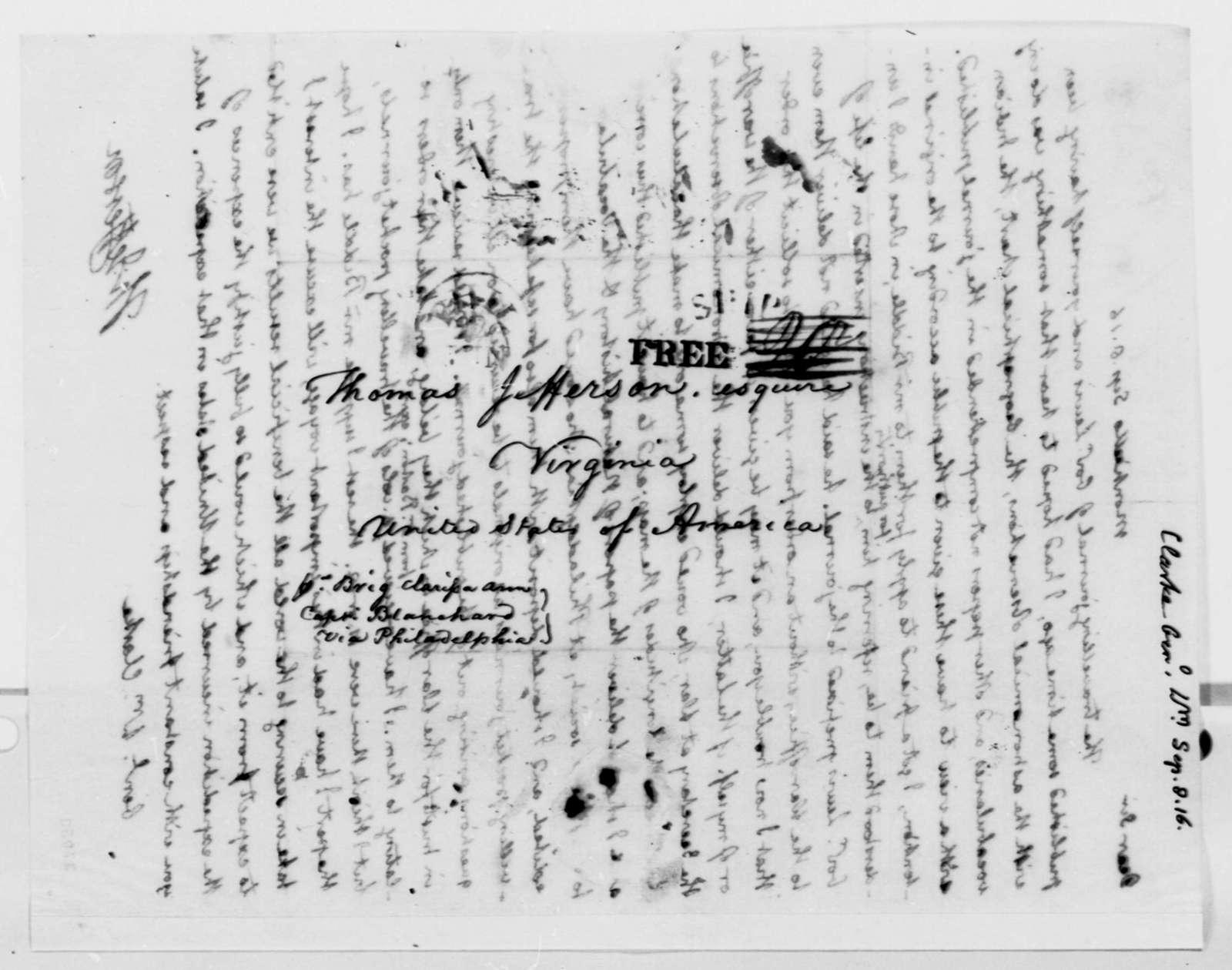 Thomas Jefferson to William Clark, September 8, 1816