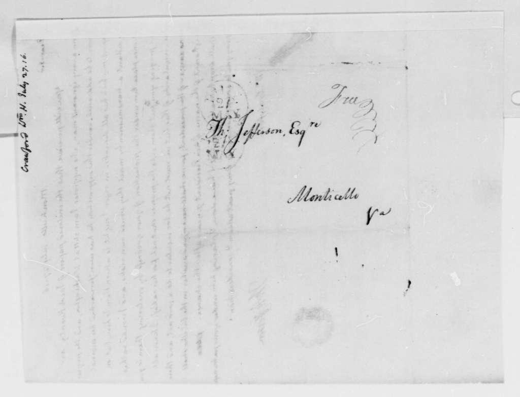 Thomas Jefferson to William H. Crawford, July 27, 1816