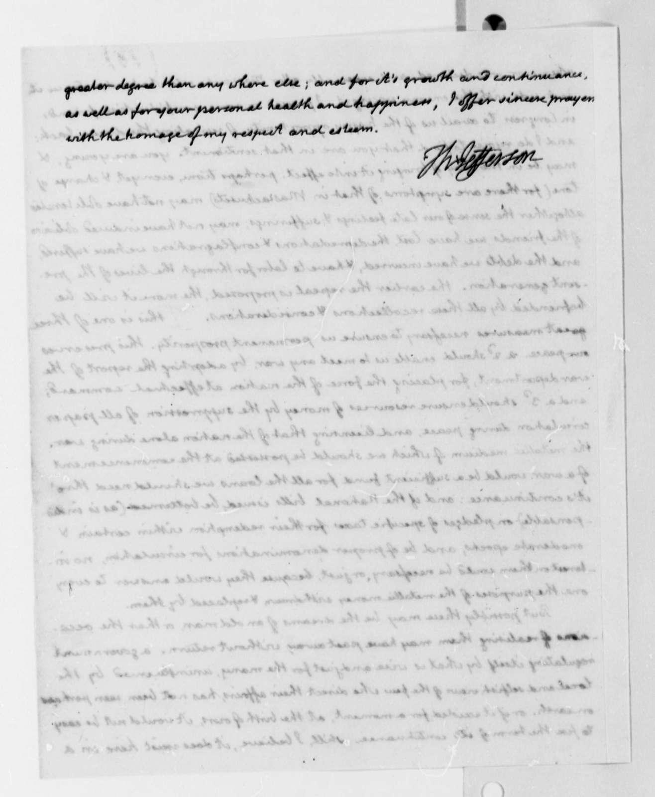 Thomas Jefferson to William H. Crawford, June 20, 1816