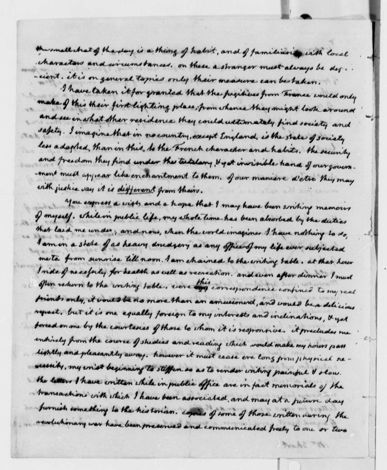 Thomas Jefferson to William Short, May 5, 1816
