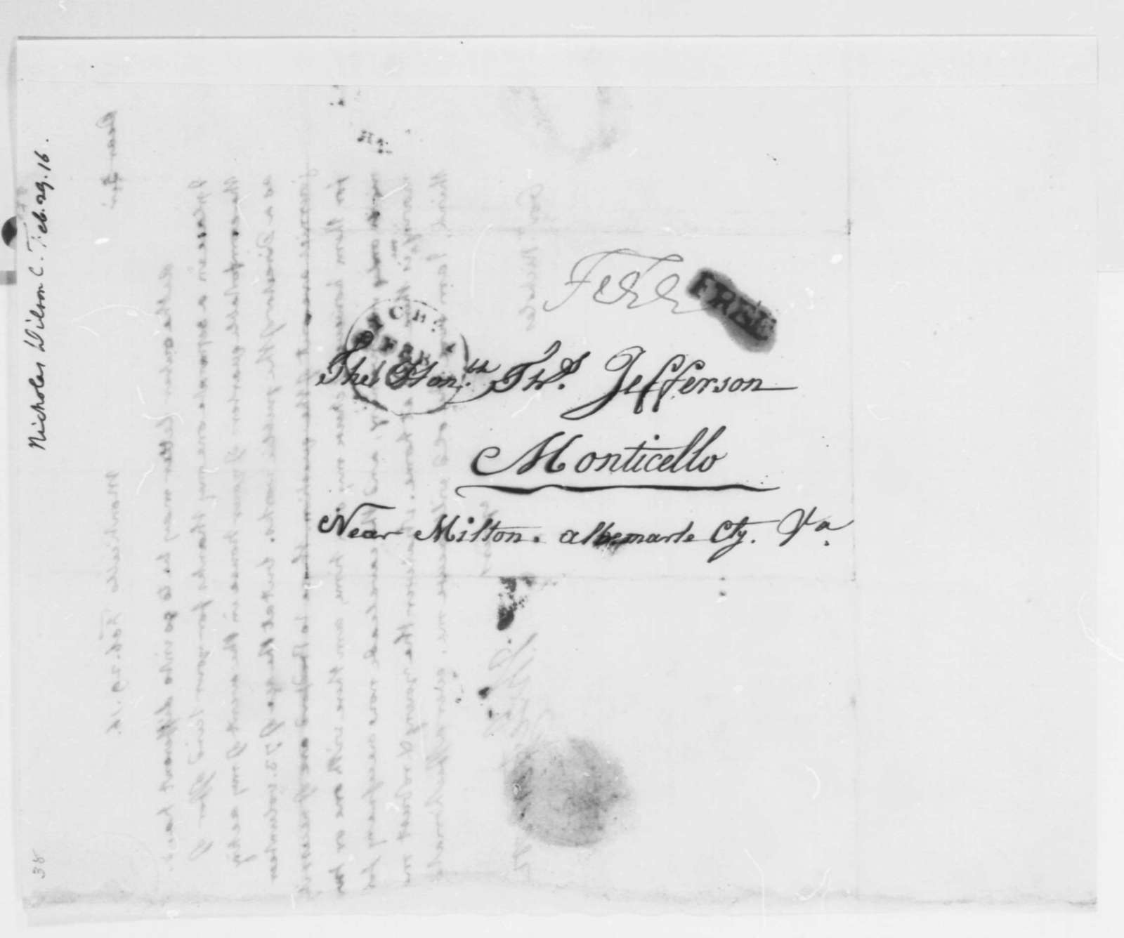 Thomas Jefferson to Wilson Cary Nicholas, February 29, 1816