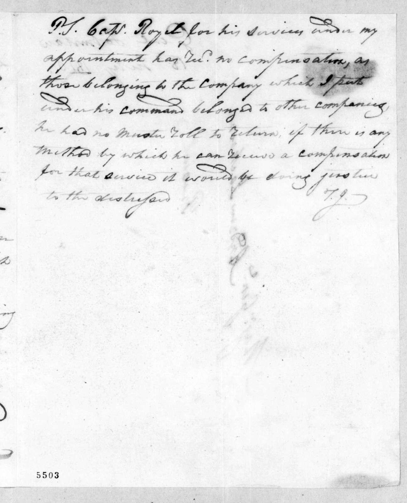 Thomas Johnson to Andrew Jackson, July 18, 1816
