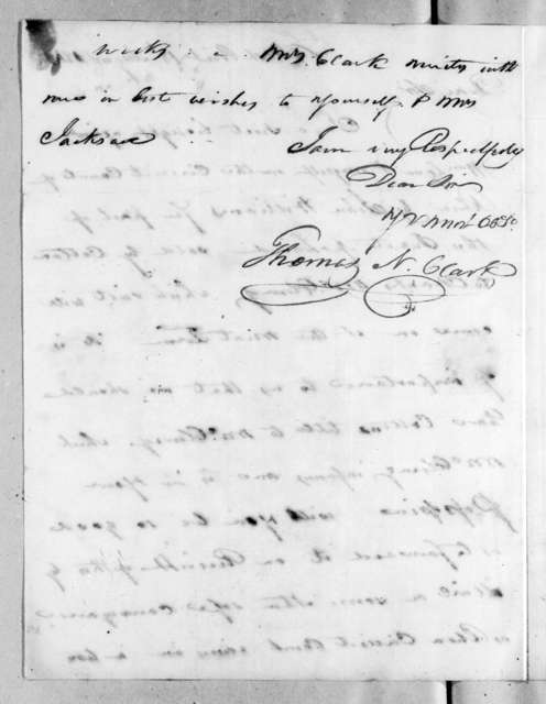 Thomas N. Clark to Andrew Jackson, August 18, 1816