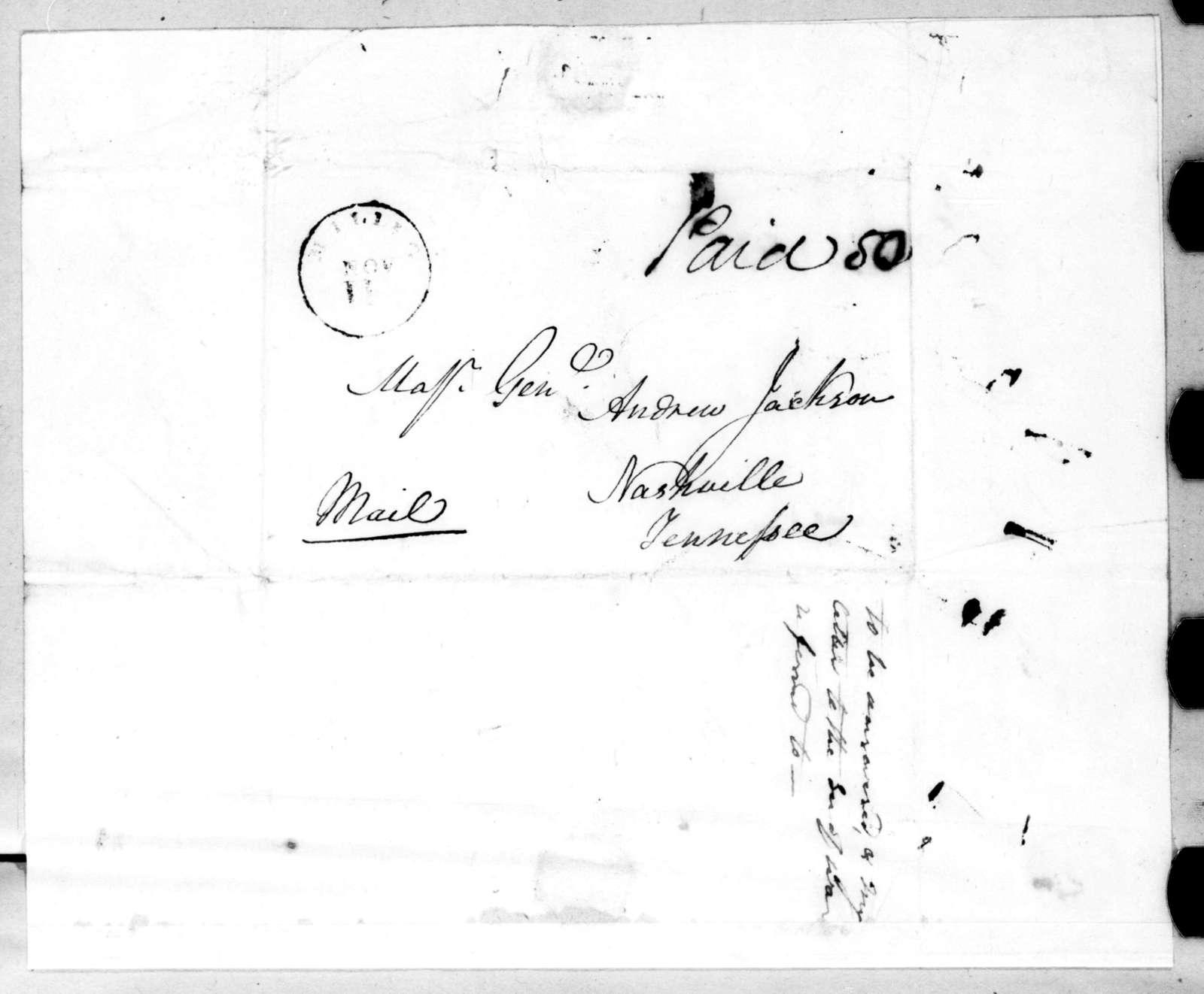Thomas P. Carnes to Andrew Jackson, November 8, 1816