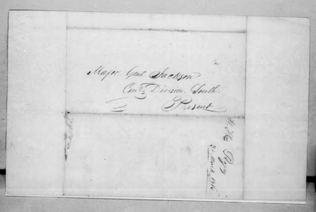 Thomas Rogers to Andrew Jackson, March 31, 1816