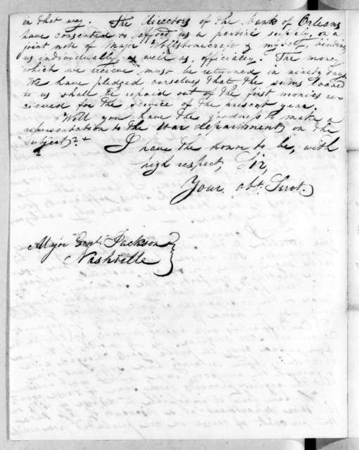 Thomas Sidney Jesup to Andrew Jackson, July 2, 1816