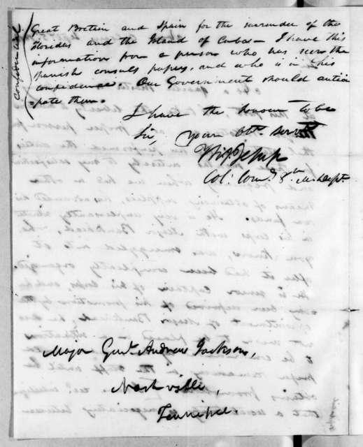 Thomas Sidney Jesup to Andrew Jackson, September 5, 1816