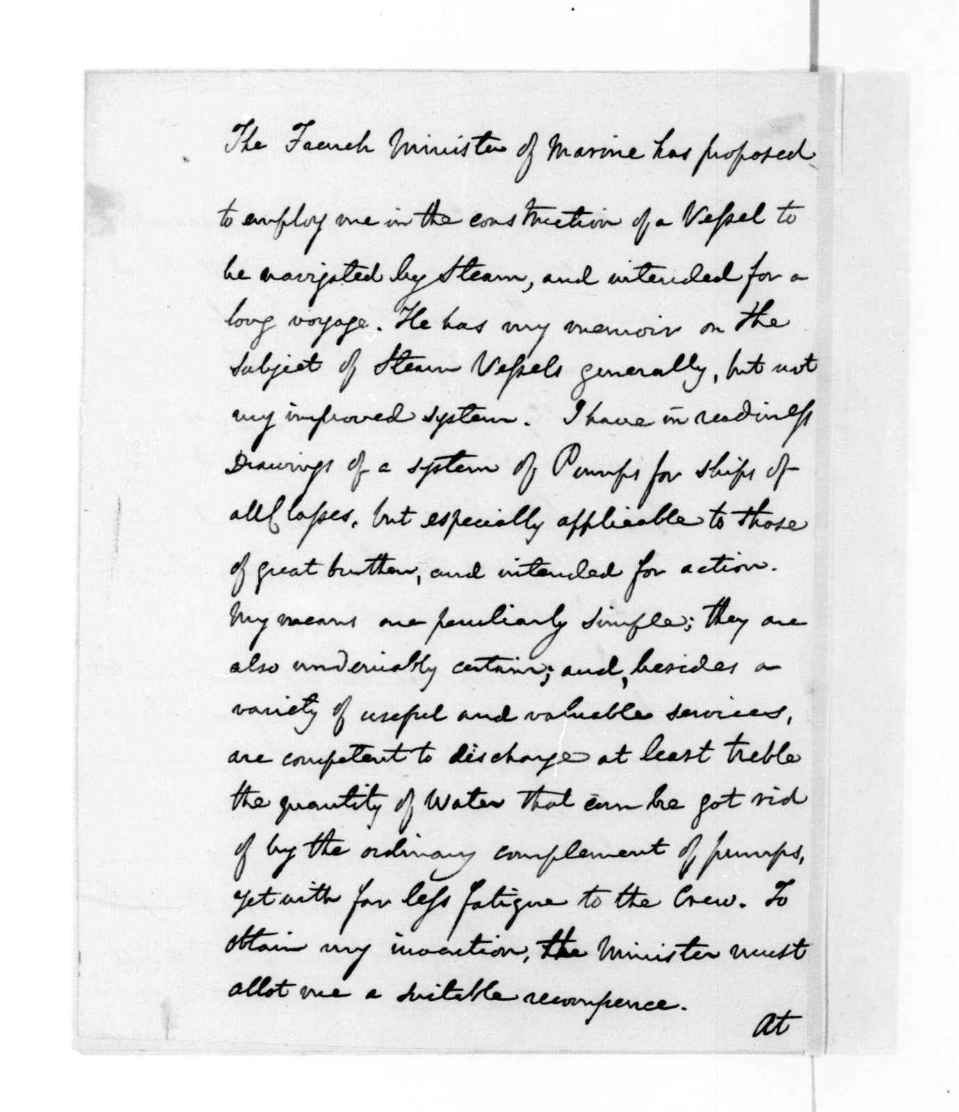Thomas Williamson to James Madison, April 15, 1816.