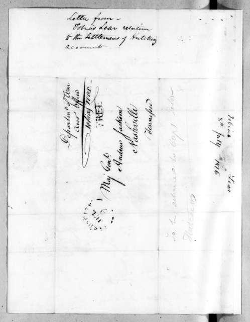 Tobias Lear to Andrew Jackson, July 8, 1816