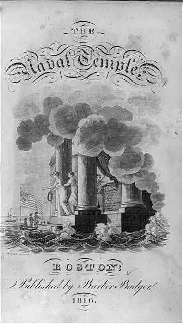 Triumphant return of the American squadron, under Com. Bainbridge from the Mediterranean, 1815
