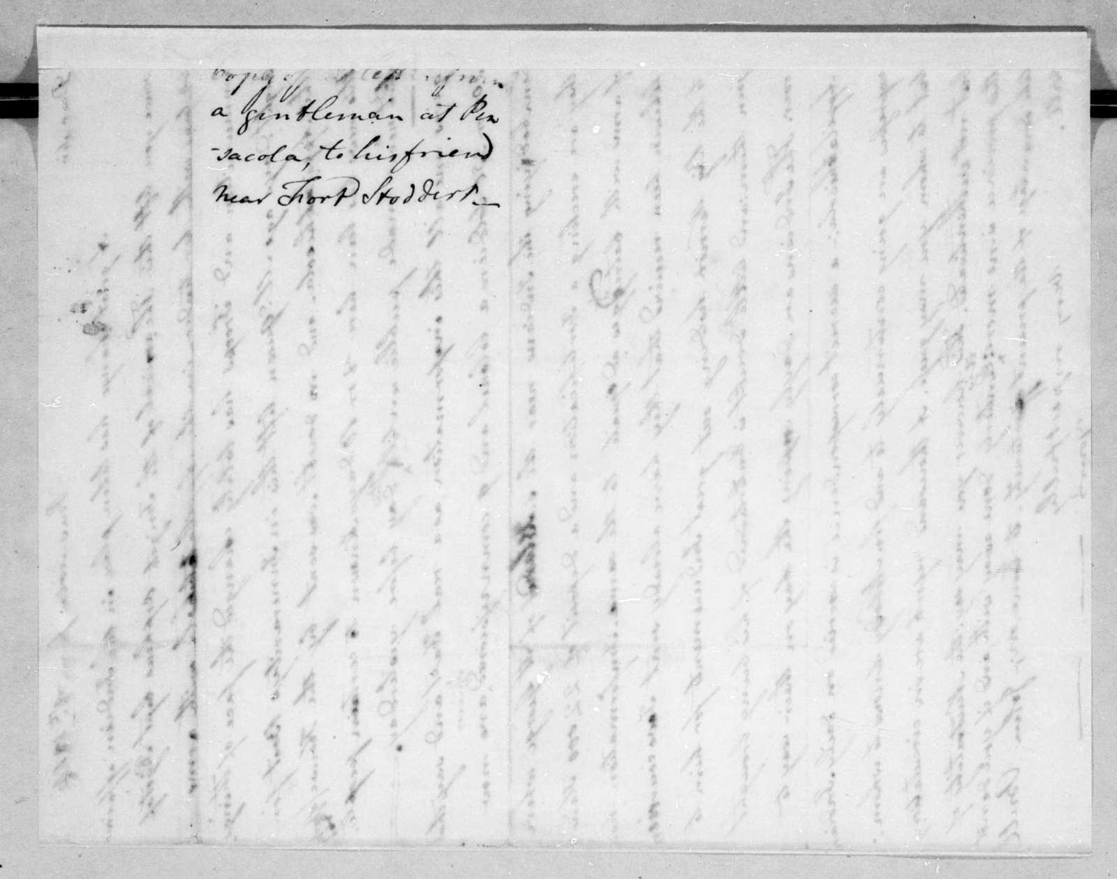 Unknown to Unknown, June 8, 1816
