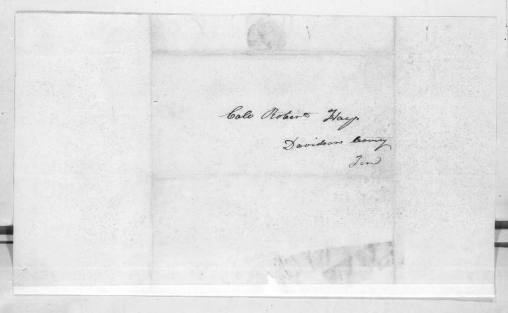 W. C. Kennedy to Robert Hays, March 23, 1816