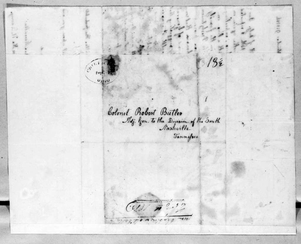 W. L. Maccalla to Robert Butler, September 9, 1816