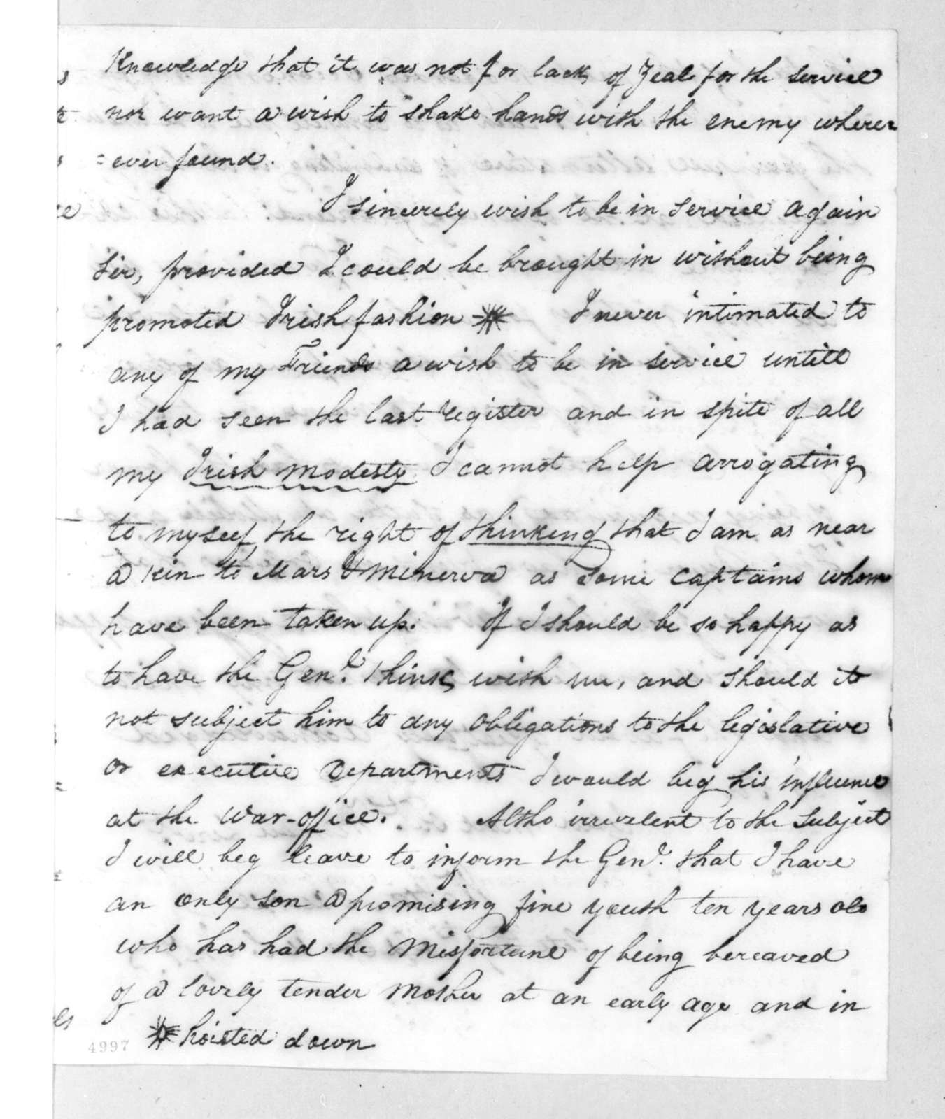 Walter Bourke to Andrew Jackson, March 11, 1816