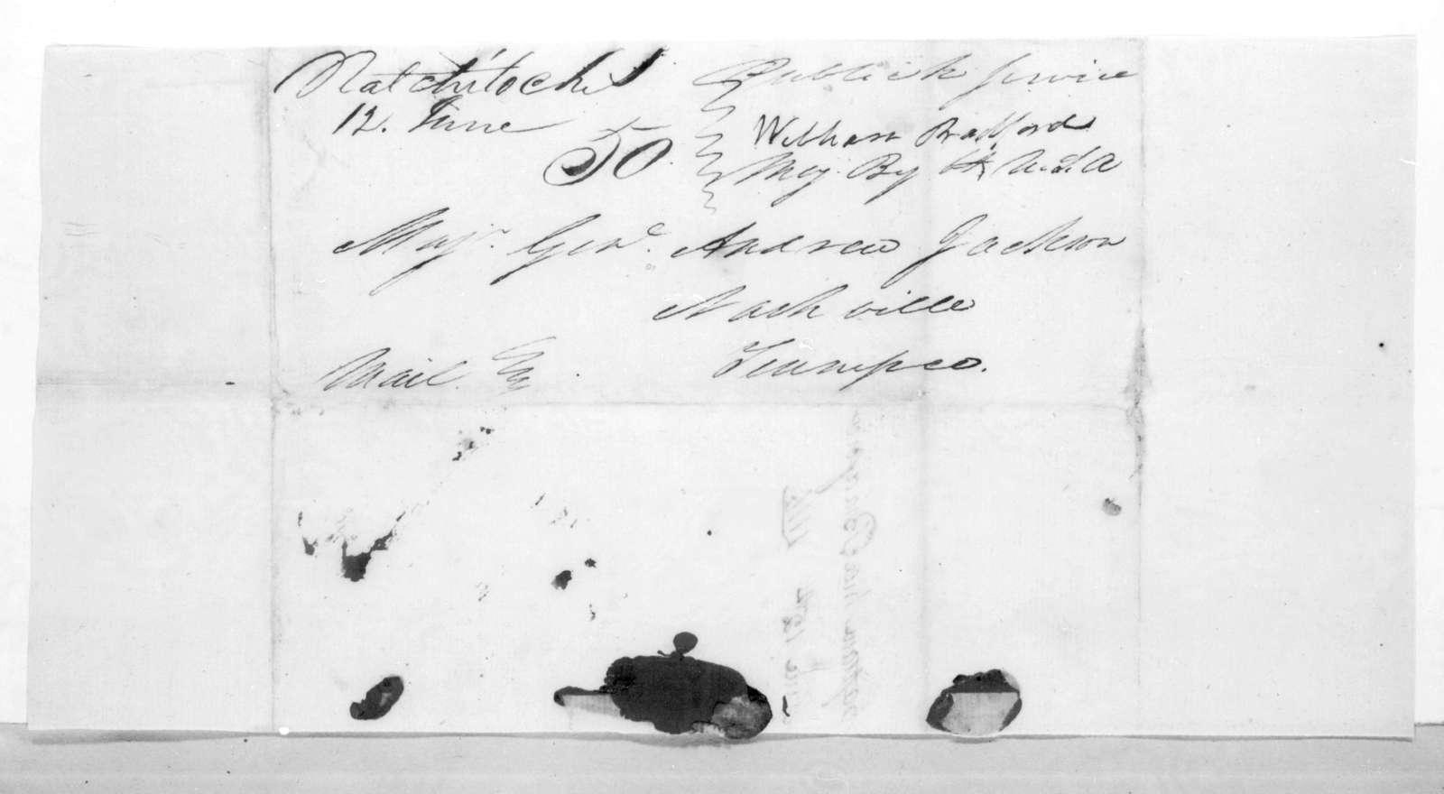 William Bradford to Andrew Jackson, June 12, 1816