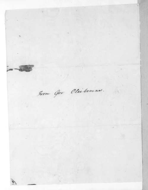 William Charles Cole Clairborne to Thomas Sidney Jesup, August 4, 1816