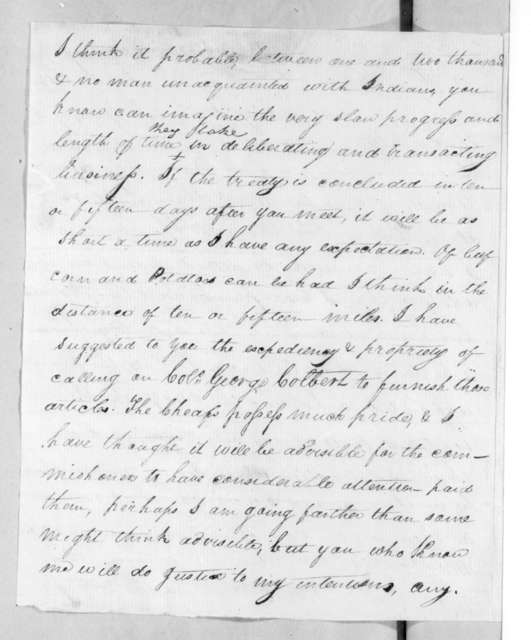 William Cocke to Andrew Jackson, August 3, 1816