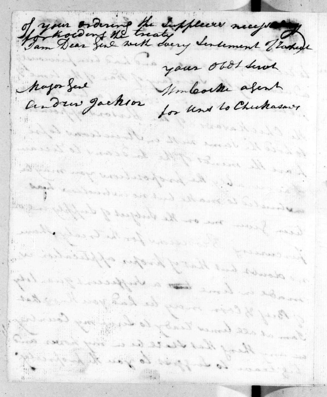 William Cocke to Andrew Jackson, July 22, 1816