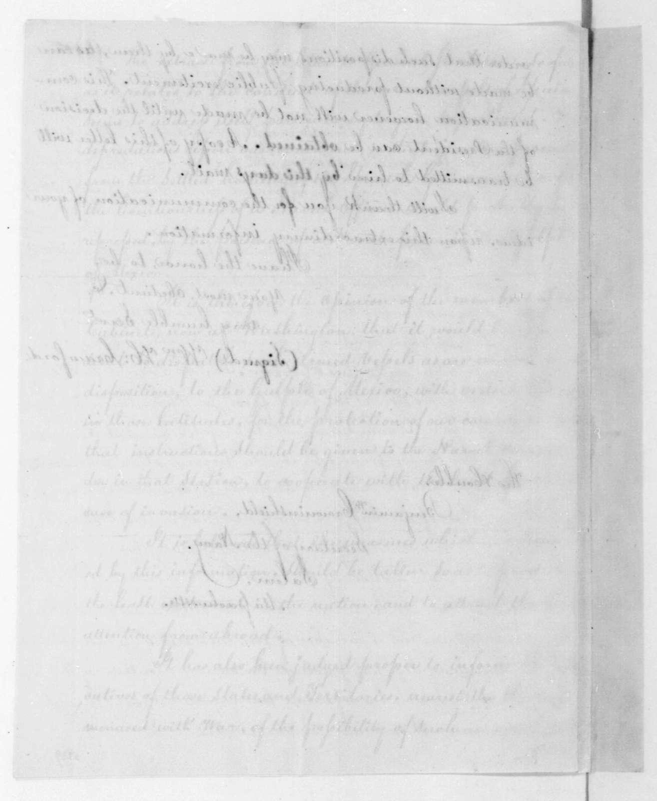 William H. Crawford to Benjamin W. Crowninshield, September 27, 1816.