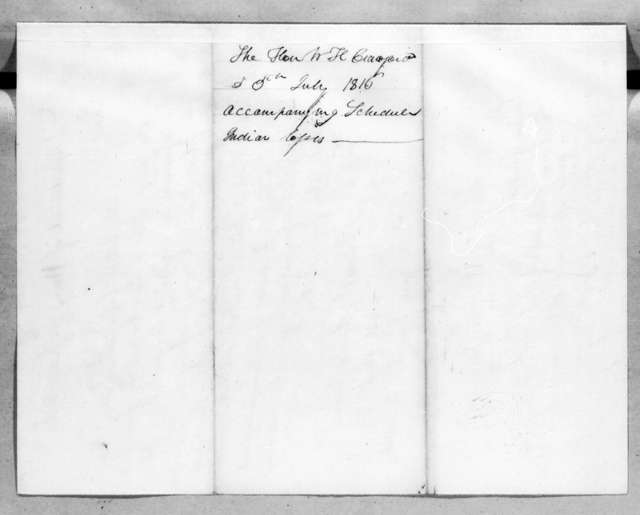 William Harris Crawford to Andrew Jackson, July 5, 1816