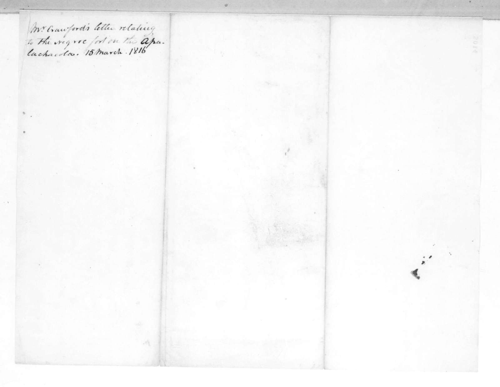 William Harris Crawford to Andrew Jackson, March 14, 1816
