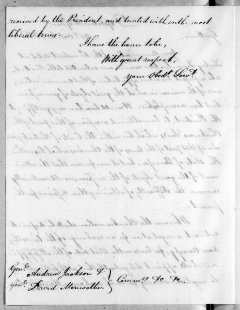 William Harris Crawford to Andrew Jackson, October 26, 1816