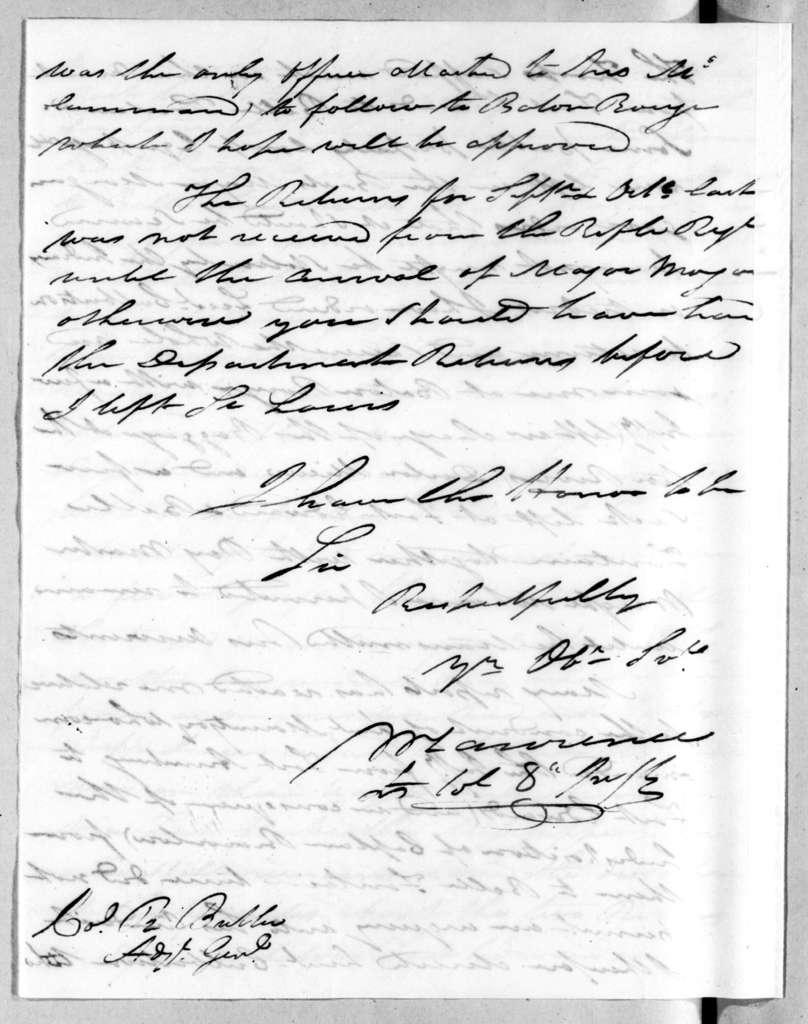William Lawrence to Robert Butler, December 17, 1816