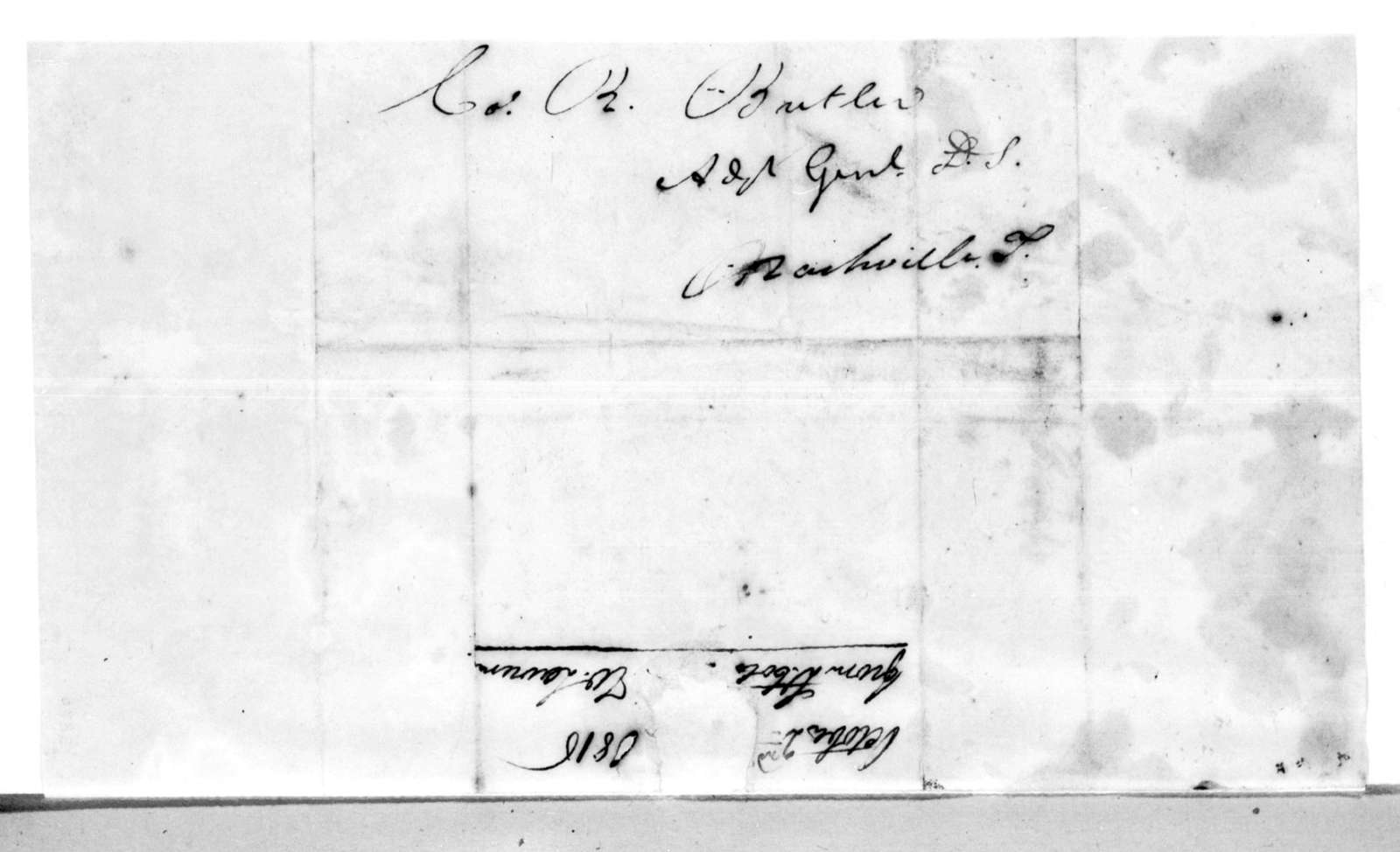 William Lawrence to Robert Butler, October 2, 1816