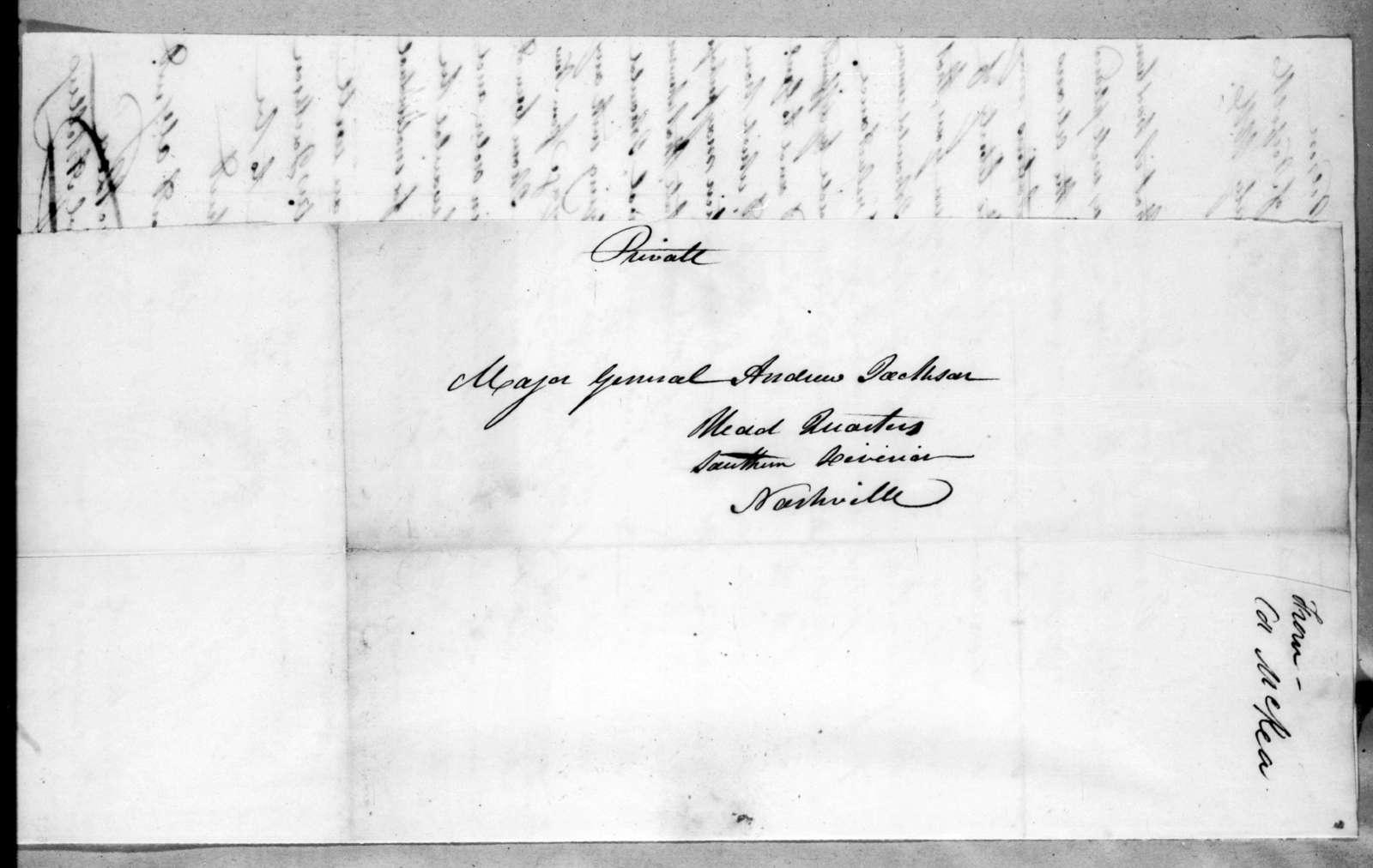 William MacRea to Andrew Jackson, July 25, 1816