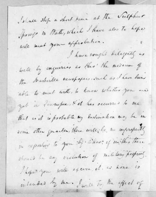 William O. Winston to Andrew Jackson, July 18, 1816