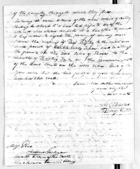 William Orlando Butler to Andrew Jackson, September 6, 1816